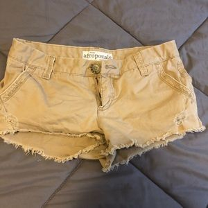 Tan colored shorts from AéRopostale